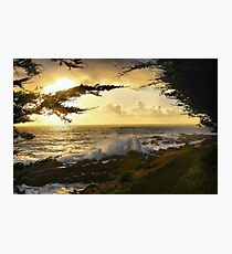 A Walk By the Sea Photographic Print