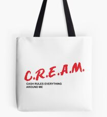 C.R.E.A.M. cash rules everything around me Tote Bag
