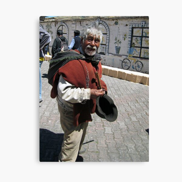 Old Man in Alausí Canvas Print