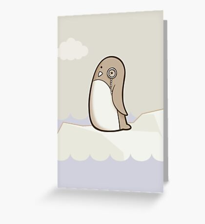 Dignified Penguin Greeting Card