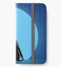 Silhouettes of the bride hugging the groom  iPhone Wallet/Case/Skin