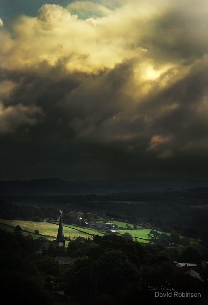 Storm clouds over Meltham by David Robinson