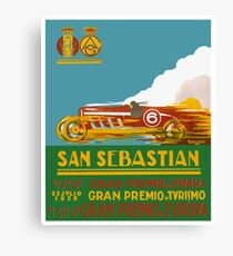 1926 San Sebastian Grand Prix Racing Poster Canvas Print