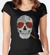 GONZO SKULL Women's Fitted Scoop T-Shirt