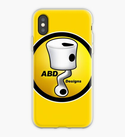 ABD vintage race bike logo - Yellow iPhone Case