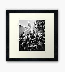 Kendrick Lamar - Alright (Music Video) Framed Print