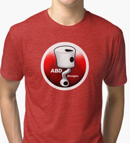 ABD vintage race bike logo - Red Tri-blend T-Shirt