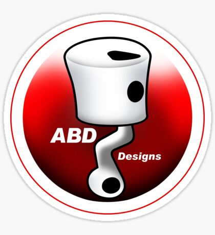 ABD vintage race bike logo - Red Sticker