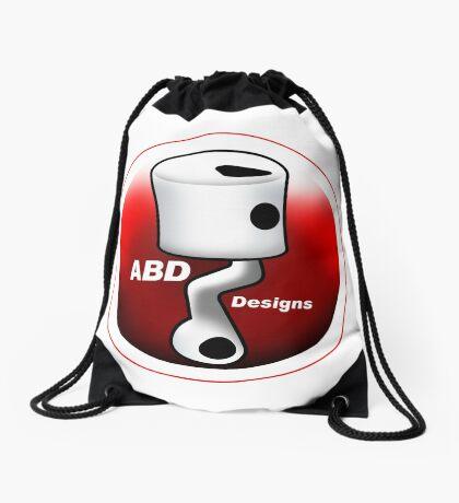 ABD vintage race bike logo - Red Drawstring Bag