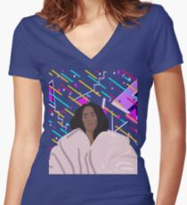 The Seat  Women's Fitted V-Neck T-Shirt
