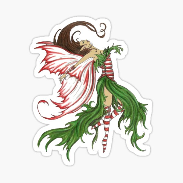 Christmas Elf Fairy Sticker