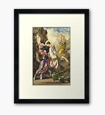 Saint George and the Dragon Gustave Moreau Framed Print