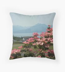 THE DOGWOOD IN BLOOM  Throw Pillow