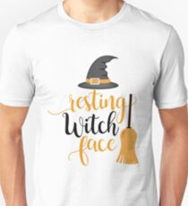 Cute and Cool Funny Halloween Gifts - Resting Witch Face - Best Gift for Him, Her, Men, Women, Boyfriend, Girlfriend, Best Friend, Husband, Wife, Son, Daughter, Dad, Mom, Couples, Brother, Sister Unisex T-Shirt