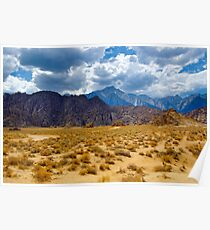 Alabama Hills and the Sierras Poster