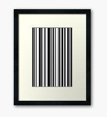 Zoe barcode pattern Framed Print