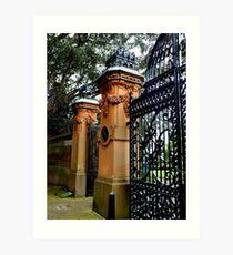 Gates, Sydney Botantic Gardens, Australia Art Print