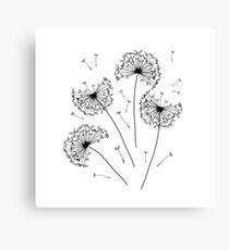 Floral pattern of dandelions Canvas Print