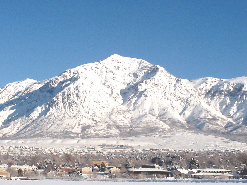another view of snow covered mountain by Josephus