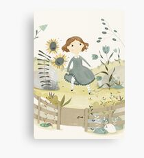 The Snow Queen - The Flower Garden of the Woman Who Knew Magic Canvas Print