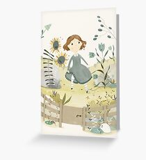 The Snow Queen - The Flower Garden of the Woman Who Knew Magic Greeting Card