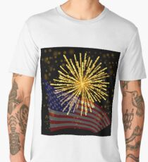 Independense Day of America. American Flag Starry Background. Men's Premium T-Shirt