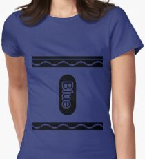 Blue Crayon Halloween Tshirt Costume Women's Fitted T-Shirt