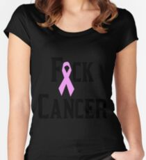 Fuck Cancer Women's Fitted Scoop T-Shirt