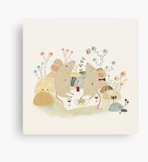 Romantic Mice Canvas Print