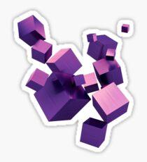 Purple Blocks Sticker