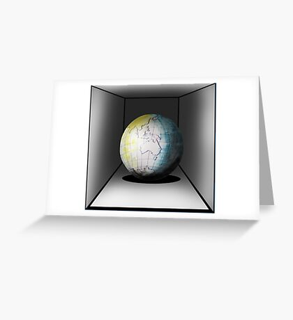 Globe in a box - seriously! Greeting Card