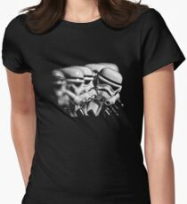 Stormtrooper distracted Women's Fitted T-Shirt