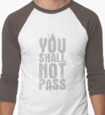 You Shall Not Pass - light grey Men's Baseball ¾ T-Shirt