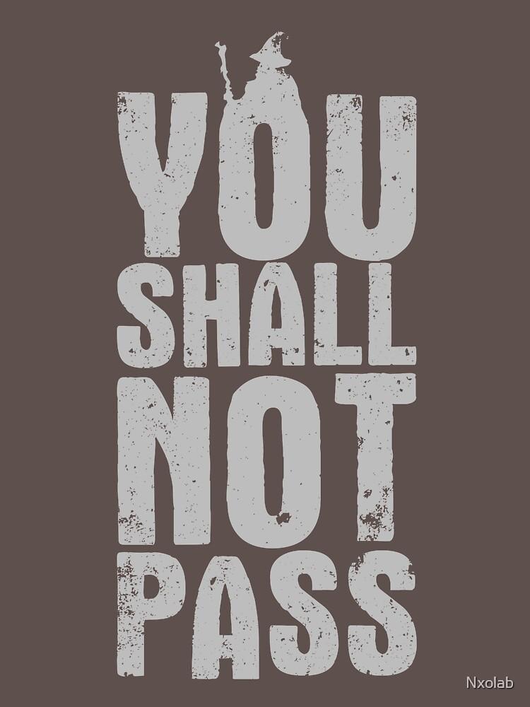 You Shall Not Pass - light grey | Unisex T-Shirt
