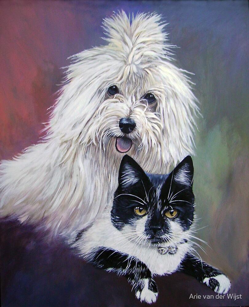Shine and Puss by Arie van der Wijst