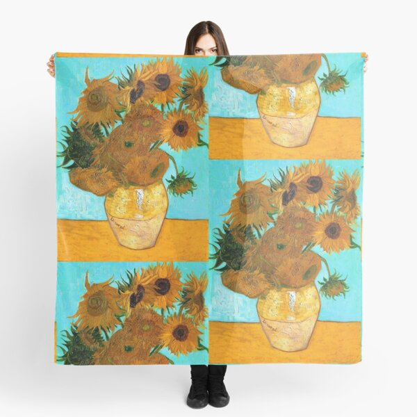 Van Gogh - Still Life Vase with 12 Sunflowers Scarf