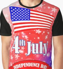 Independence Day of America. American Flag Starry Background. Graphic T-Shirt