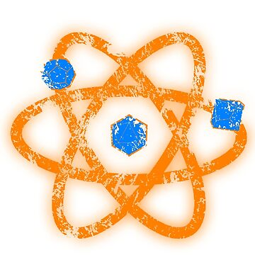 Atomic Dungeons and Dragons D20 - Blue and Orange by Fuzzyketchup