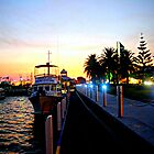 Night falls over Lakes Entrance  by cjcphotography