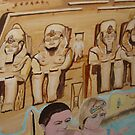 Ramesses II Temple of Abu Simbel  1250 BC by Sunil