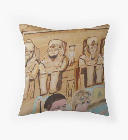 Ramesses II Temple of Abu Simbel  1250 BC Throw Pillow