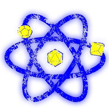Atomic Dungeons and Dragons D20 - Yellow and Blue by Fuzzyketchup