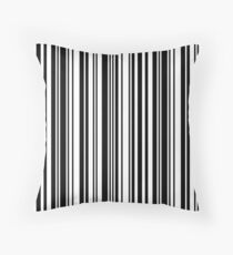 Zoe barcode pattern Throw Pillow