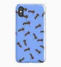 Animal Pattern. Ant Isolated on Blue Background. iPhone Case/Skin