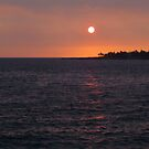 Sunset over Kona, Hawaii by Cheryl  Lunde