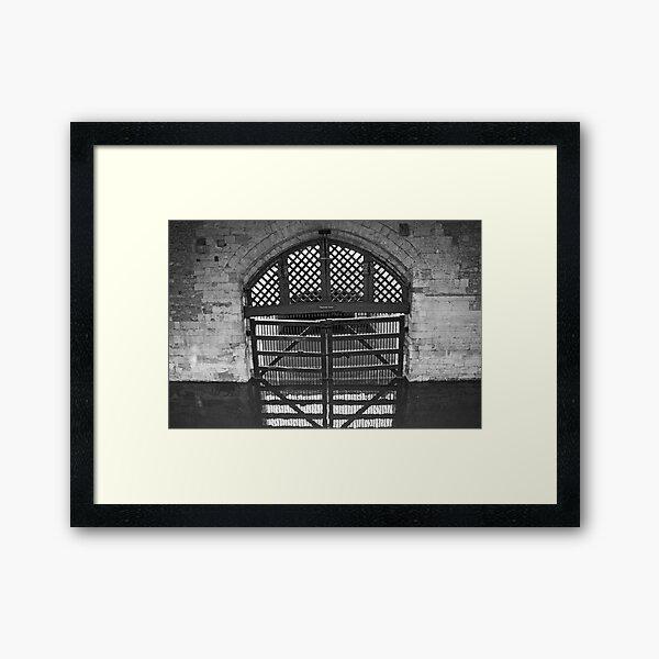 Traitors' Gates Framed Art Print