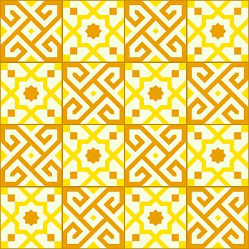 Geometric Pattern: Tiles: Yellow by redwolfoz