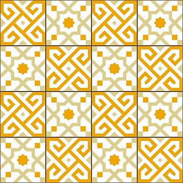 Geometric Pattern: Tiles: Orange by redwolfoz