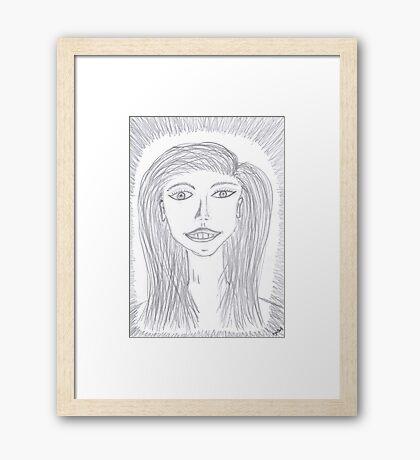 2411 - Portrait Of A Smiling Girl Gerahmtes Wandbild