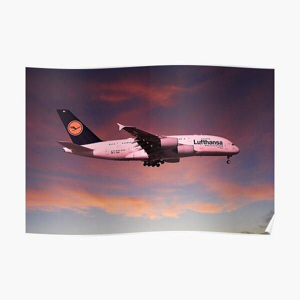 Lufthansa Airbus A380 D-AIMH Poster